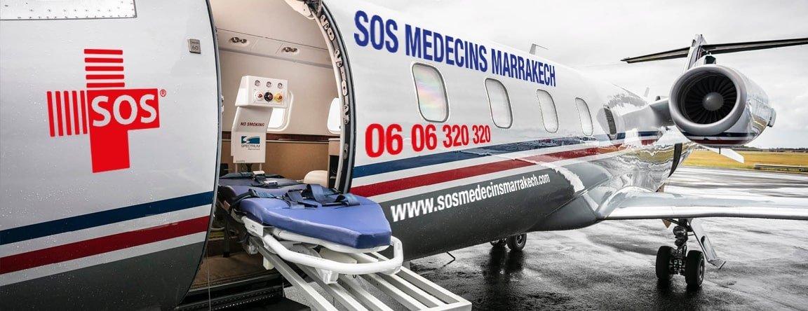 avion sos medecin marrakech